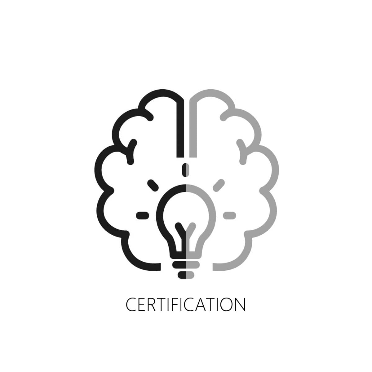 A brain symbolizes the knowledge and certification provided by Alumil Academy to fabricators