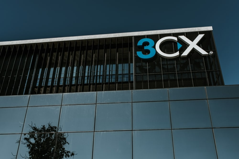 3CX company sign on building