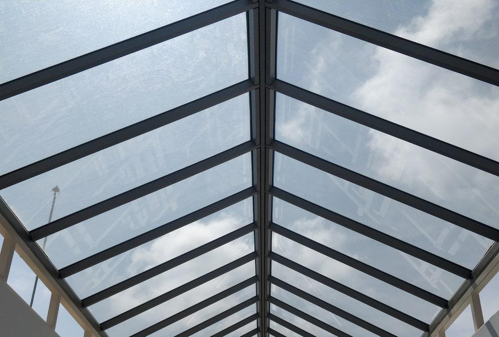 Glass atrium roof