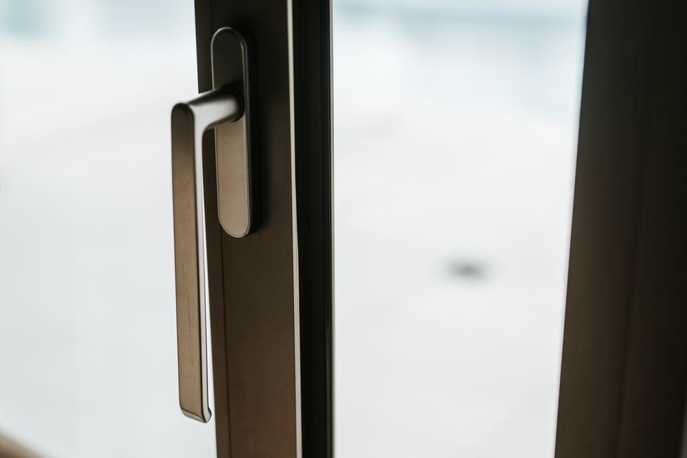 Open aluminum window handle
