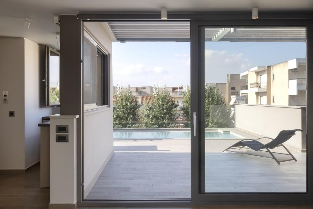 Open aluminum window