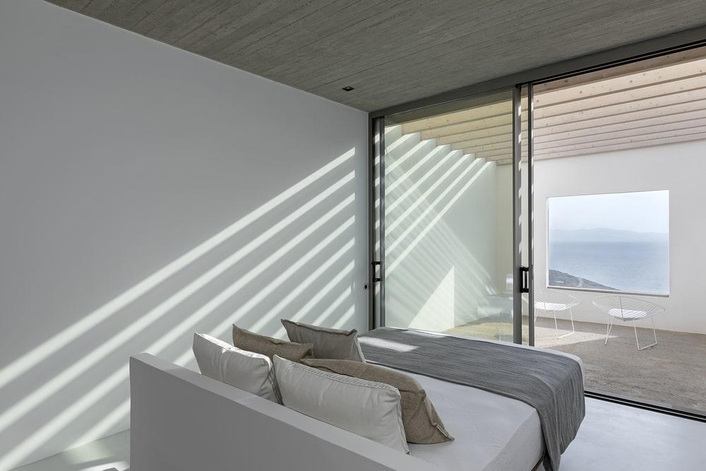 Bedroom with open window
