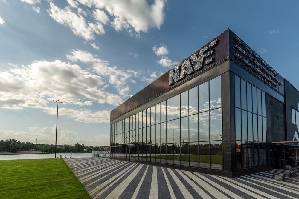 Building with glass façade