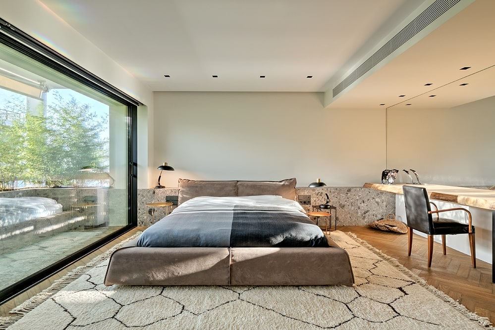Bedroom in daylight