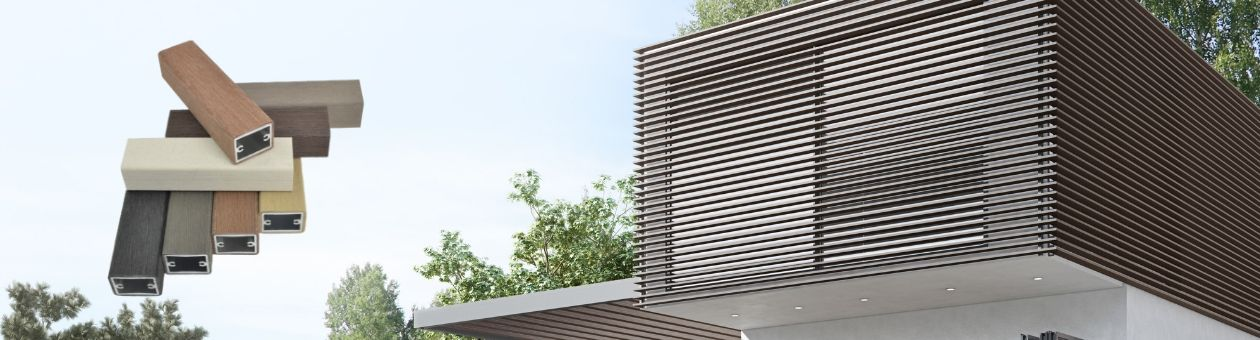 WOODALUX the innovative building material for effective shading and contemporary building decoration