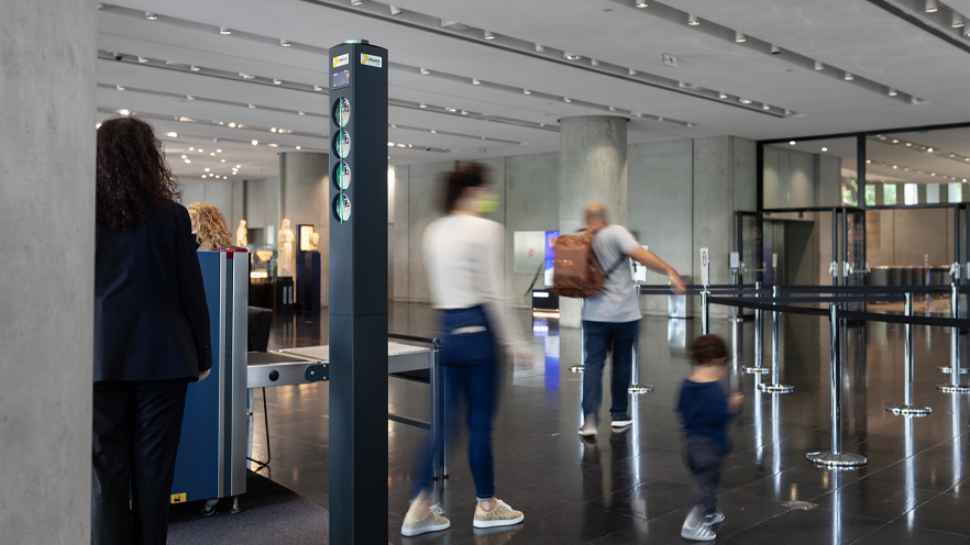 Smart Gate entrance in Acropolis Museum