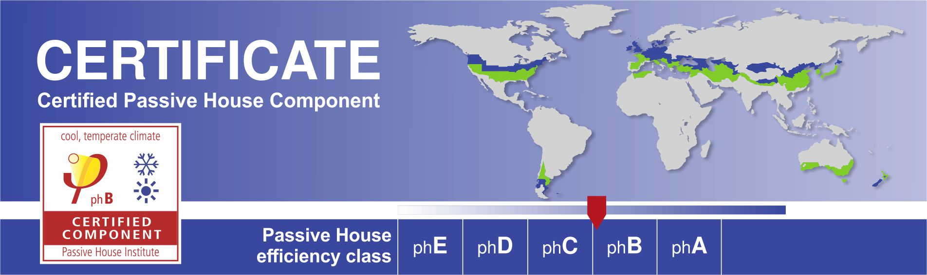 Certificate for passive houses
