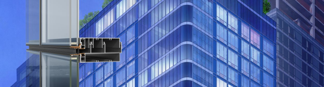 SMARTIA M78 a unitized curtain wall system for maximum transparency