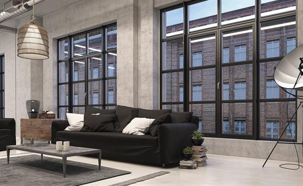 Steel look interior design