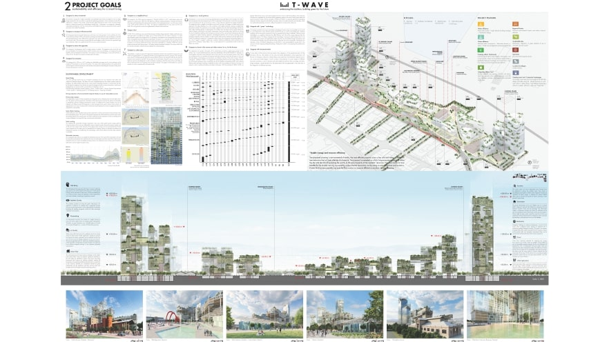 Second plate of the honorable mention of ArXellence 2: THESSALONIKI WAVE (T-WAVE), embracing the tradition, building green for the future, created by F&M Ingegneria Spa, MAU Architecture & marsiglilab