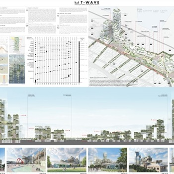 Second plate of the honorable mention of ArXellence 2: THESSALONIKI WAVE (T-WAVE), embracing the tradition, building green for the future, created by F&M Ingegneria Spa